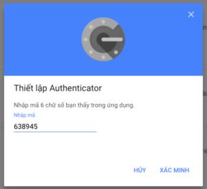 bao mat bang google authenticator