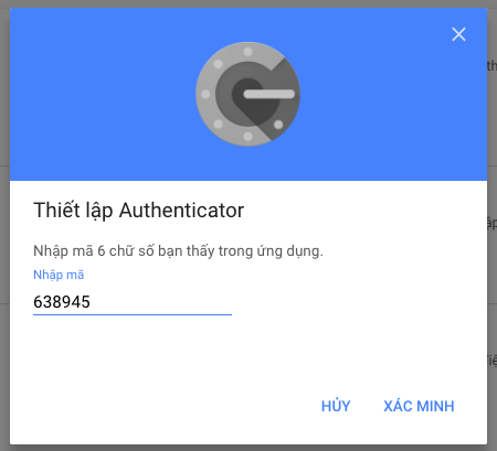 bao mat bang google authenticator