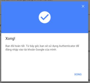 bao mat bang ung dung google authenticator