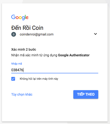 bao mat google authenticator