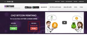 cach ban bitcoin tren san remitano
