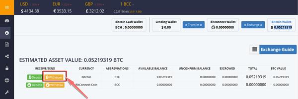 cach rut bitcoin tren tai khoan bitconnect