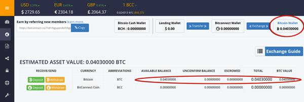 nap bitcoin vao bitconnect
