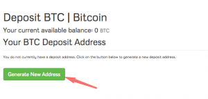 cach lay dia chi vi bitcoin tren coinexchange