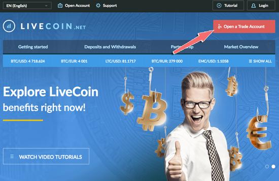 hướng dẫn đăng ký tài khoản sàn livecoin