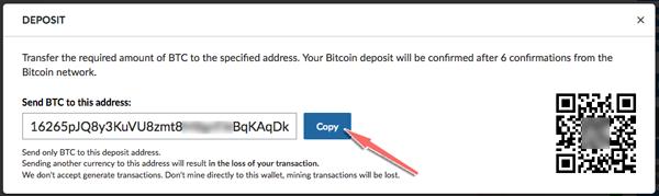 cach lay dia chi vi bitcoin tren san livecoin