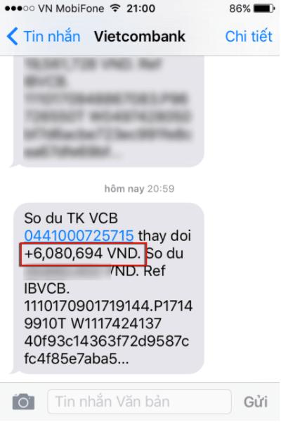 rut tien vnđ về ngân hàng vietcombank