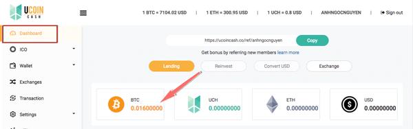 nap bitcoin vao ucoin cash thanh cong