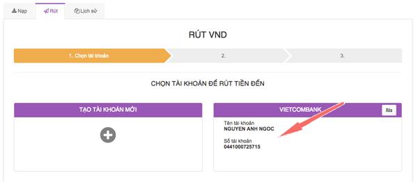 hướng dẫn rút lãi hextracoin về tài khoản vietcombank