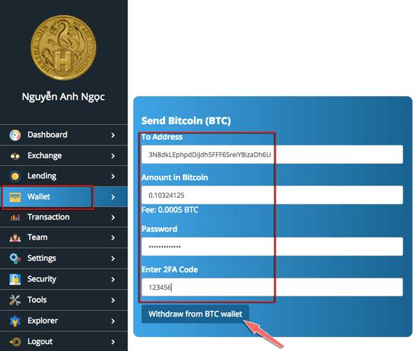 cach rut bitcoin ra khoi hextracoin