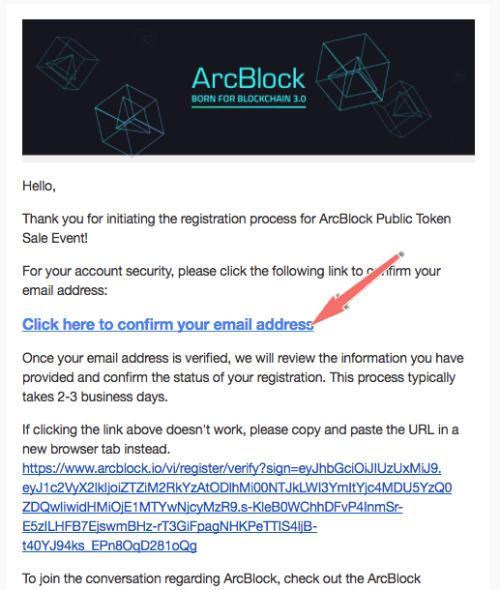 xac minh tai khoan arcbock qua email