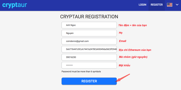 dang ky tai khoan mua ICO cryptaur