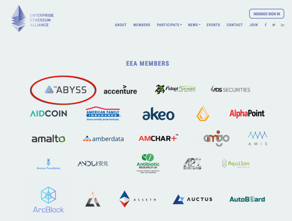Các thành viên của Enterprise Ethereum Alliance
