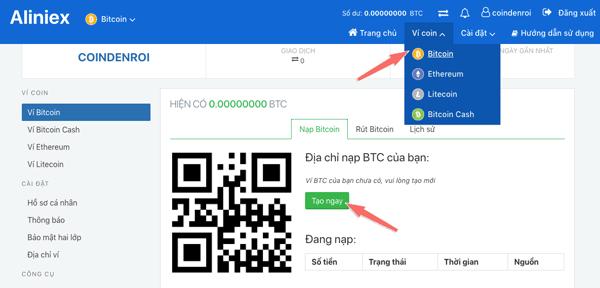 huong dan mua ban bitcoin tren san aliniex