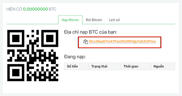 tao dia chi vi bitcoin tren aliniex
