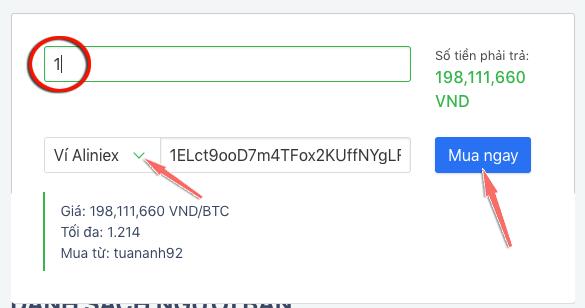 mua bitcoin tren aliniex