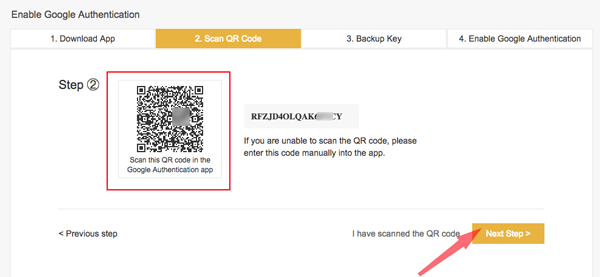huong dan bat Google Authentication cho tai khoan binance